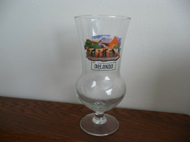 New Disney T-REX Glass Orlando Souvenir Dinosaur Hurricane - $14.00