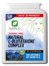 Natural L-Glutathione 5000mg Skin Lightening Whitening 60s Pills - $17.76+