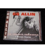 GG Allin CD The Troubled Troubadour + Bonus Tracks 1996 Mountain Records - $28.99