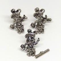 Vintage Hillbilly Boy Cufflink Tie Pin Tack Set Men's Jewelry - $34.64