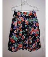 EXPRESS DESIGN STUDIO LADIES PLEATED SILK SKIRT-2-LINED-BARELY WORN-BLAC... - $8.90