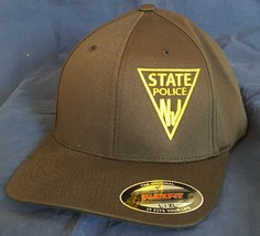 NJSP New Jersey State Police Triangle Logo Panel Embroidered FlexFit Hat - $37.49