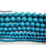 Turkey Turquoise Gemstone Round Beads 16'' 4mm 6mm 8mm 10mm 12mm 14mm 16... - $2.03+