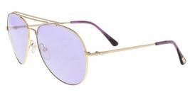 Nuevo Tom Ford FT0497 28Y 60MM Indiana Oro / Violeta Gafas de Sol - $188.09