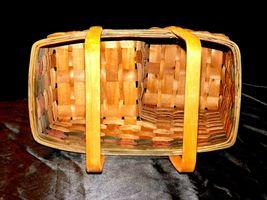 Double Handled Swing Basket Handmade AA19-1577 Vintage image 7