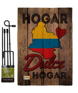 Country Colombia Hogar Dulce Burlap - Impressions Decorative Metal Garde... - $33.97
