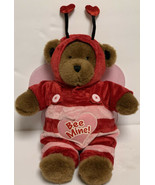 """Build a bear 15"""" Brown Bear W/Outfit Bee Mine Valentine's Day Pink Wings... - $29.99"""