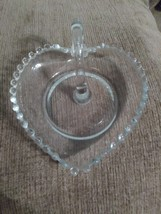 Imperial Candlewick Glass heart shaped nappy - $15.99