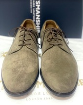 Handmade Men's Brown Suede Dress/Formal Lace Up Oxford Shoes image 3