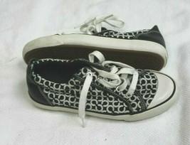 COACH Size 5.5 Women's Barrett Black Signature Monogram Canvas Sneaker Shoes  - $34.65