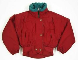 Obermeyer Juniors Size 8 Red Winter Skiwear Jacket - $9.49