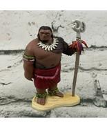 Disney Moana Figure Cheif Tui Moana's Dad Father On Base - $14.84