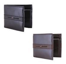 Tommy Hilfiger Men's Leather Credit Card RFID Coin Slimfold & Valet Wallet