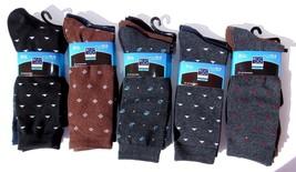 MB55 Mens 3 Pair Blue Gray & Brown Dress Original  Socks, Cotton Size 10-13 - $12.84