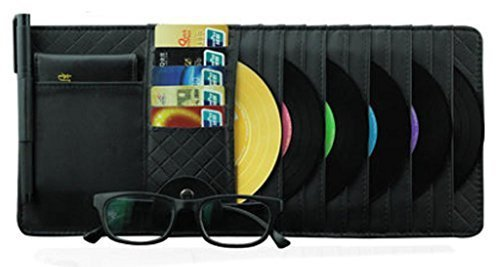 PANDA SUPERSTORE Auto Accessories DVD/CD Storage CD Visor Organizer 10-Pocket CD
