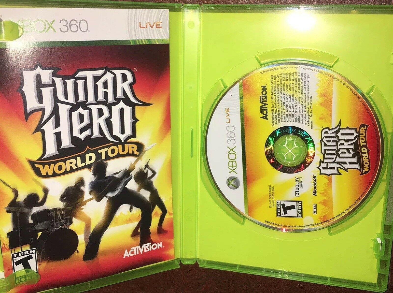Guitar Hero: World Tour (Microsoft Xbox 360, 2008) Ships Free