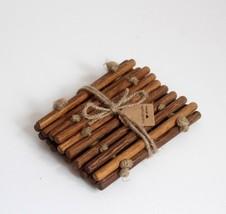 DAIVA'S STUDIO Handmade Oak Flax French Country 2 Piece Set Wooden Coast... - $41.21