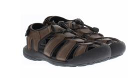 Brand New Khombu Mens Black or Brown Travis Active Hiking Summer Sandals NWT image 2