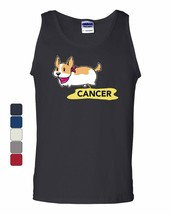 Puppy Peeing on Cancer Tank Top Funny Dog Doggie Cure Awareness Sleeveless - $10.01+