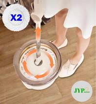 360° Microfiber Spinning Magic Rotating Head Easy Cleaning Floor Mop Bucket Set! - $29.69