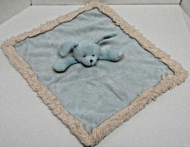 Blankets & Beyond Blue Puppy Dog Baby Security Blanket Velour Thick Edge... - $19.80 CAD