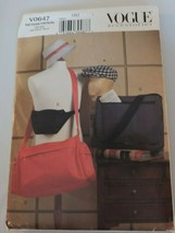 Vogue Sewing Pattern Uncut V0647 Mens Accessories Hat Travel Work Bag - $17.99