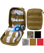 Tactical Trauma Kit Pouch Fully Stocked Medical Supplies MOLLE First Aid... - $48.99+