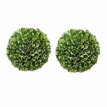 "A&B Home 6.5"" Green Boxwood Balls Artificial Plant Topiary Orb Indoor Ou... - $31.90"