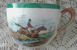 """Vintage English SPODE Herring Hunt The Hunt Flat Cup """"Leaping the Brook"""" 2/9265K - $12.79"""