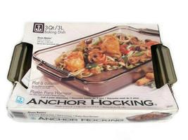 Anchor Hocking Oven Basics Amber Baking Dish Ovenproof Glass 3Qt/3 L - $40.09