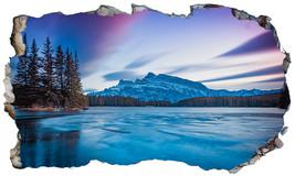 Banff National Park Canada 3D Magic Window Wall Art Self Adhesive Sticker V1 - $15.13+