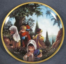 The Crucifixion Collector Plate Precious Moments Bible Story Sam Butcher - $17.95