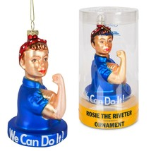 Rosie The Riveter Glass Christmas Ornament! - $9.49