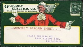 1905 Gregory Electric Co of Chicago All Over Advertising Cover - Stuart ... - $125.00