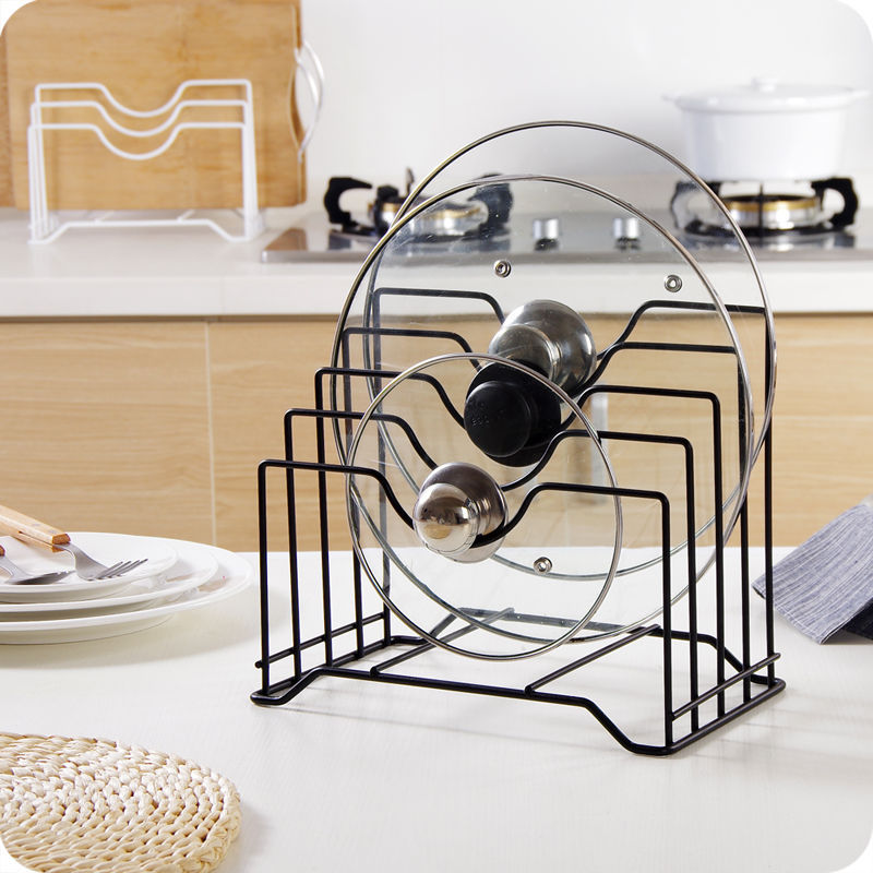 Lid Maid Pot Pan Lid Organizer: Pot Cover Rack Lid Pan Stand Holder Spoon Kitchen Rest
