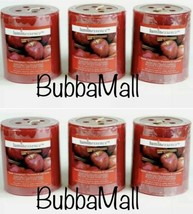 6 X Luminessence Apple Cinnamon Scented Pillar Candles, 2.5 In. X 2.8 In. - $19.79