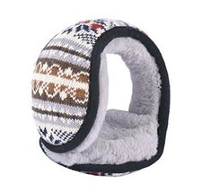 Unisex Foldable Earmuffs Warm Knit Ear Warmers Fleece Winter EarMuffs, A3 - $13.11