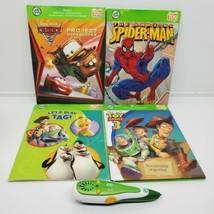 LeapFrog Tag lot 4 books Reading System Educational Green Handheld Pen Works (bf - $24.75