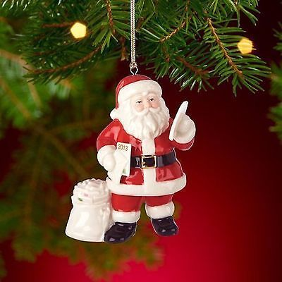 Lenox 2013 Santa Figurine Ornament Annual Claus Letters Mail Christmas NEW