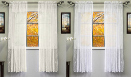"""Knit Lace Polyester SongBird Motif 56""""x 63"""" Window Curtain Panel - $16.19"""