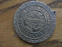 1897 Nord Wisconsin Zu Oshkosh Wis.Medal Saenger Bezirk Token Coin Medallion - $61.75