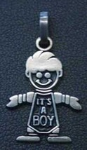 Charm Baby Pendant its a boy Silver gifts Jewelry Love - $13.41