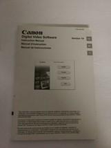 Canon Digital Video Software instruction Manual Version 14 EUC Complete ... - $8.56