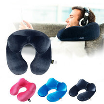 Travel Pillow U-Shape Inflatable Comfortable Airplane Traveling Neck Pil... - $7.99
