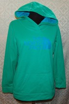 The North Face Womens Hoodie L Green Blue Hooded Jacket Pullover - $42.37
