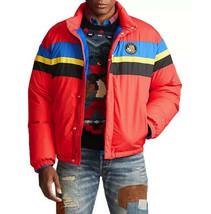 Polo Ralph Lauren Mens Downhill Ski Stripe Down Puffer Jacket Red Size L $398 - $346.49