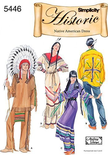 Simplicity Ladies & Mens Sewing Pattern 5446 Native American Costumes