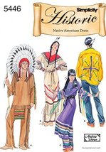 Simplicity Ladies & Mens Sewing Pattern 5446 Native American Costumes - $24.50