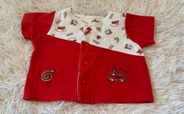 Vintage Firetruck Shirt Size 3-6 Months To The Rescue Dalmatian Puppy  - $7.69