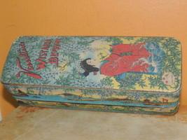 A.A Vantines Wisteria Blossom lidded box Paper Geisha Girl Antique Adver... - $49.49